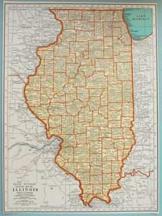cool map of illinois