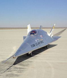 The experimental X-24B aircraft on the lakebed at NASA's Dryden Flight