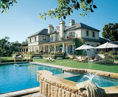 The family-friendly house actor Rob Lowe shares with his wife, Sheryl, in southern California is set on six panoramic acres Unique House Plans, Dream House Plans, My Dream Home, Dream Homes, Celebrity Mansions, Celebrity Houses, Celebrity Style, California Ranch, Southern California
