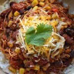 Crockpot Chicken Taco Chili:    This is SO good!  And for those of you on WW, it's only 5 points.