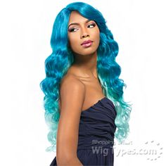 Sensationnel Synthetic Hair Empress Natural Curved Part Lace Front Wig - ASHANTI (futura)