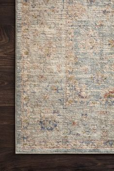 Shop the Revere Twyla Rug - Color: Light Blue, Multi; Size: x by Loloi. Made from Polyester in Turkey. This Power Loomed Light Blue, Multi rug has a pile_height, perfect for a soft yet durable addition to your home. Huntington Homes, Rug Studio, Calming Colors, Traditional Rugs, Shabby Chic Furniture, Shabby Chic Rug, Rugs Online, Rugs In Living Room, Decoration