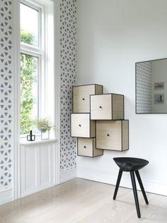 By Lassen Danish and Scandinavian Wall Mounted Storage Boxes.