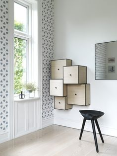 By Lassen Danish and Scandinavian Wall Mounted Storage Boxes.