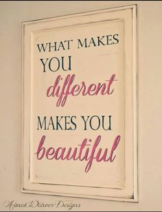 Different and beautiful