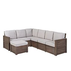 Vice Versa 6 Piece Modular Tufted Leather Sectional Sectionals furniture Macy s build