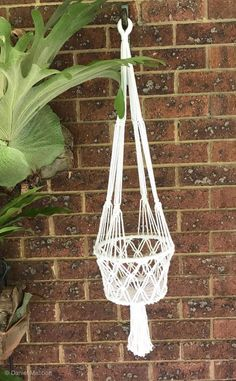 Macrame Plant Hanger Single  White , Boho    eBay