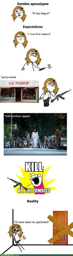 What I'd REALLY do in a zombie apocalypse.