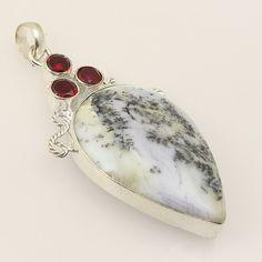 Awesome Dendrite Opal .925 Silver Handmade Designer Pendant Jewelry ZA62 #Handmade