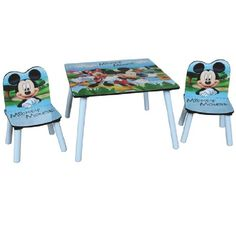 table et 2 chaises mickey disney disney bureaus and tables. Black Bedroom Furniture Sets. Home Design Ideas