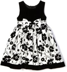 Nannette Girls 4-6x Velvet Top and Floral Embroidery Printed Dress $18.05