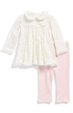Little Me Tunic & Leggings (Baby Girls) available at #Nordstrom
