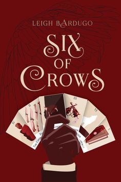 "mscprojects: ""Giselle Ramirez A project I did for school, recreate a book cover. I picked Six of Crows because I have fallen deeply in love with the story and characters, and the concept. I chose to make Tarot Cards for each character, (from left to..."