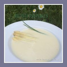 Velouté d'asperges Thermomix Honeydew, Cantaloupe, Thermomix Soup, Vinaigrette, Pudding, Fruit, Desserts, Recipes, Food