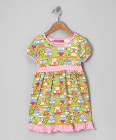 Take a look at this Lime Ice Cream Babydoll Dress - Infant, Toddler & Girls by A Whirl of Color: Girls' Dresses on #zulily today!