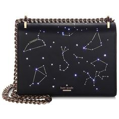 Kate Spade New York Star Bright Constellation Marci Clutch (€350) ❤ liked on Polyvore featuring bags, handbags, clutches, accessories, shoulder bags, man bag, man shoulder bag, leather purses, shoulder handbags and leather shoulder handbags