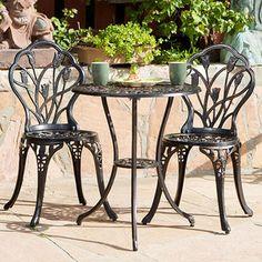 Overstock.com Charleston Aluminum Copper Bistro Set - Outdoor Living - Patio Furniture - Bistro Sets