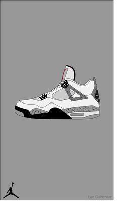 "Air Jordan 4 ""White Cement"" I made using Adobe Illustrator Sneakers Wallpaper, Shoes Wallpaper, Hype Wallpaper, J Cole Art, Vlone Logo, Jordan 4 White Cement, Michael Jordan Art, Sneaker Posters, Sneakers Sketch"