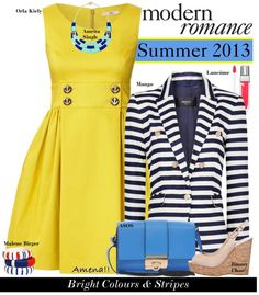 """Summer Style 2013: Bright Colours & Stripes"" by amz-1912 ❤ liked on Polyvore"