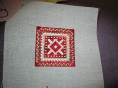 Freebie chart... one of dozens stitched by Nancy Smith.  With corners folded in makes a good Christmas ornament.