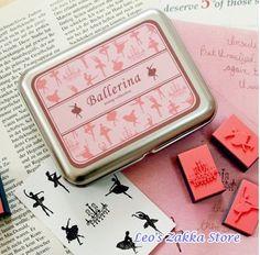 Frete Grátis / Nova caixa de ferro doce set selo ballet / selo de presente / 9pcs / set 5sets ( 45pcs ) / lote em Selos de Escritório & material escolar no AliExpress.com | Alibaba Group