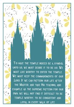 Howard W Hunter Chapter The Temple—The Great Symbol of Our Membership- Free Printable Relief Society Handouts, Free Printables, Temple, Lord, Symbols, Teaching, Young Women, Jesus Christ, Saints