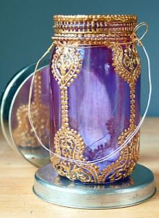 """DIY Puffy Paint Lanterns. Good designs for """"wise men"""" props for Christmas program."""