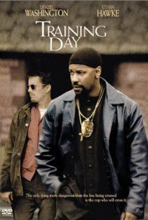 Training Day (2001)  --  In a city where streets are overrun by drug dealers, those who have sworn to uphold the law are breaking them to clean up the streets. Denzel Washington plays L.A.P.D. detective Alonzo Harris, a veteran narcotics officer whose methods of enforcing the law are questionable, if not corrupt. 'Training Day' follows Harris as he trains rookie Jake Hoyt over a 24-hour period. Ethical dilemmas arise for Hoyt as well as the audience as questions present themselves as to…