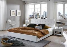 SAM® Deluxe Polsterbett 140 x 200 cm Weiß MISO
