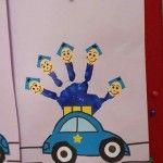 anasınıfı el baskısından trafik polisi etkinliği