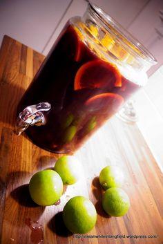 Sangria joka keräsi (hurjasti) kehuja – Meanwhile in Longfield. Sangria, Blood Orange Juice, Red Grapes, Lime Juice, Bakery, Good Food, Food And Drink, Snacks, Fruit