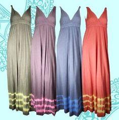 Gypsy 05 Neon Maxi Dress - love the tie-dye bottom!Made in the USA @USA Love List