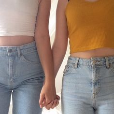 fashion, girls, and holding hands image