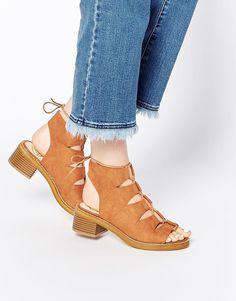 Image 1 - Missguided - Chaussures à lacets à talons larges
