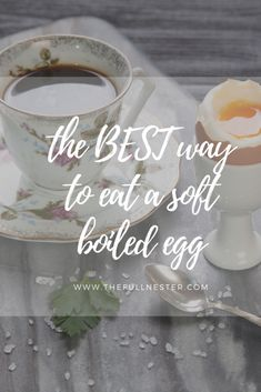 The Best Way to Eat Soft Boiled Eggs Soft Boiled Eggs, Good Things, Eat, Breakfast, Morning Coffee