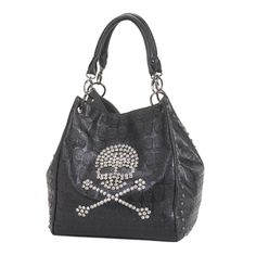 ROCKIN' SKULL TOTE BAG #BreezyCouture #blacktote