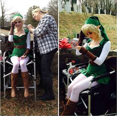 & in this viddy, I am transforming into one of my all time favorite characters. Link Cosplay, Cosplay Diy, Cosplay Dress, Cosplay Outfits, Halloween Cosplay, Best Cosplay, Cosplay Costumes, Awesome Cosplay, Alexa Poletti
