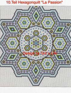 """Grit's Life: 10.Teil Hexagonquilt """"La Passion"""