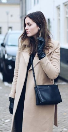 I love these black leather gloves for the winter!