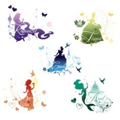 Disney Princess Silhouette Decals