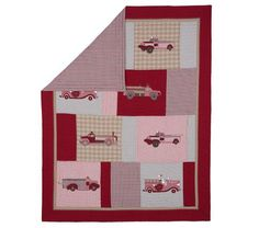 pottery barn twin fire truck quilt