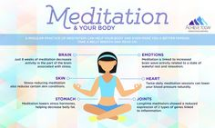 A regular practice of meditation can help your body and even make you a better person. Take a belly breath and read on! #meditation #Healthyhabits #achievetoday