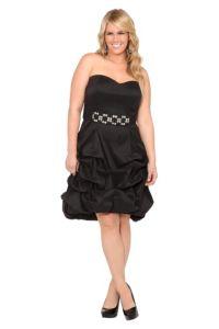 Black Hi-Lo Pick-Up Bubble Dress | Dresses