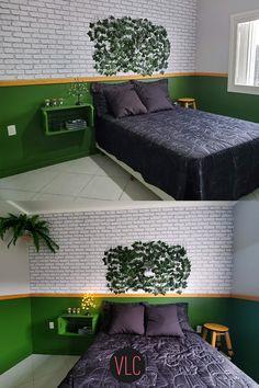 Hoje eu trouxe 5 DIY de decoração para o quarto fáceis e baratos de serem feitos para você copiar aí na sua casa, bora começar?! Bed, Furniture, Home Decor, Wood Scraps, Wooden Stools, Bedroom Decor, Crate, Dollar Store Decorating, Wall Tile Adhesive
