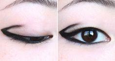 kind of liking the creativity of new geometric eyeliner styles