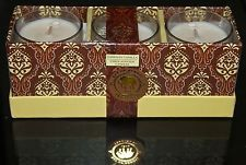 DW HOME TAHITIAN VANILLA CANDLE NEW SET OF 3 SOY 2.4OZ EACH GLASS 1 WICK BEN4001