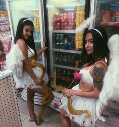 #fantasyangel #angel #anjo #inspiration #fantasia #carnaval Halloween Inspo, Halloween 2017, Diy Halloween Costumes, Halloween Makeup, Fantasy Angel, Fantasy Girl, Halloween Disfraces, Group Costumes, Grad Parties