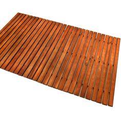 Wooden shower mat bath duckboard hardwood non slipping rectangular oiled bathroom duck board mats Eucalyptus: Amazon.co.uk: Kitchen & Home