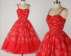 Apothic Swirl . vintage 1950s dress . 50s party dress . 4683