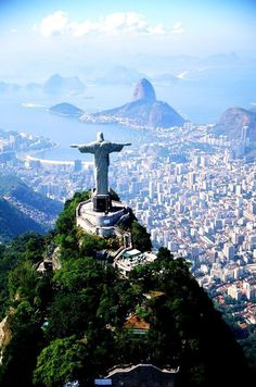 Looking down at Rio de Janerio in Brazil.